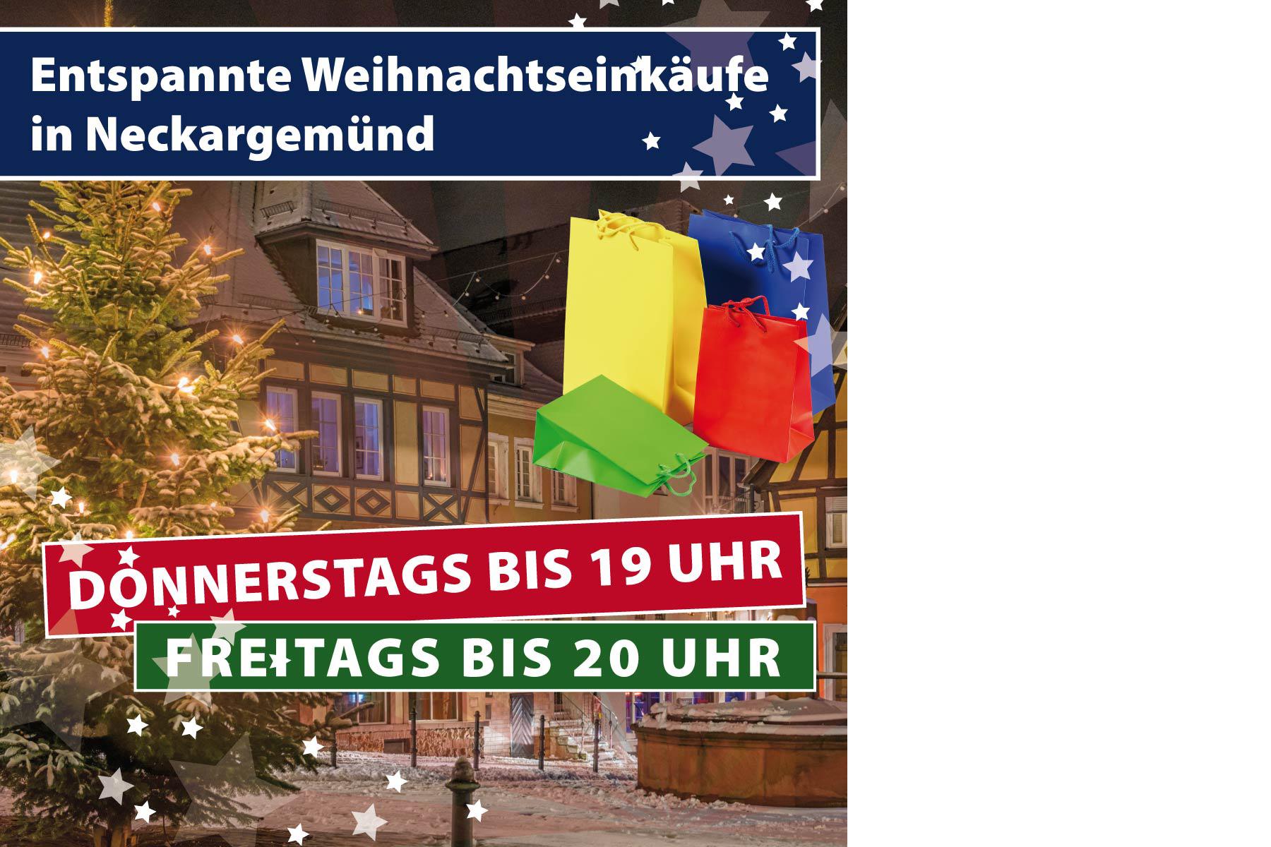 Entspannte Weihnachtseinkäufe  in Neckargemünd